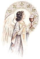 [Angel llevando la comunión]
