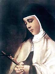 Estampa de la beata María del Sagrario de San Luis Gonzaga]
