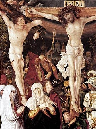 [El buen ladrón mira a Jesús (detalle) de Christoph Bockstorfer (1524])
