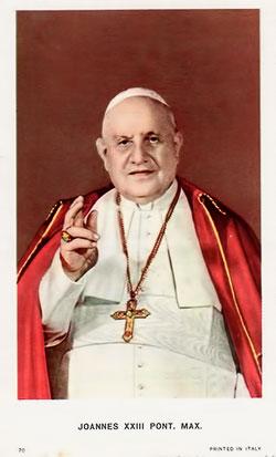 [Estampa antigua de San Juan XXIII]