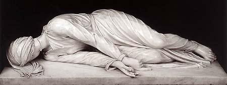 [Escultura de santa Cecilia de Stefano Maderno. 1600.]